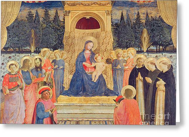 The San Marco Altarpiece Greeting Card by Fra Angelico