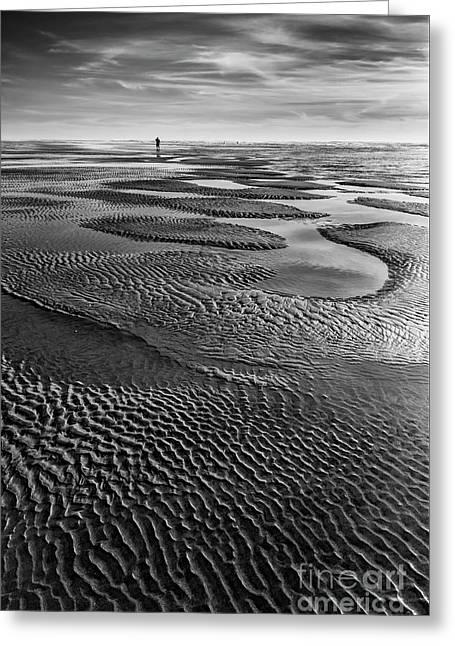 The Sand Pattern Greeting Card by Masako Metz