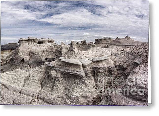 The Sandcastles Greeting Card by Melany Sarafis