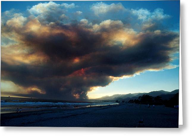 The Santa Barbara Fire Greeting Card by Jerry McElroy