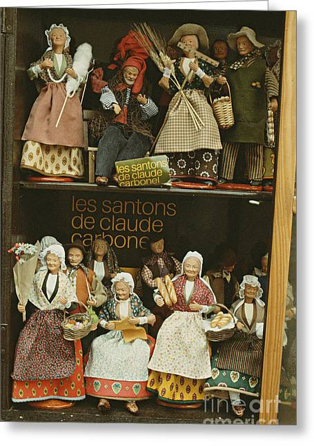Provence Village Greeting Cards - The Santons Of Claude Cardonel Greeting Card by Ronny Jaques