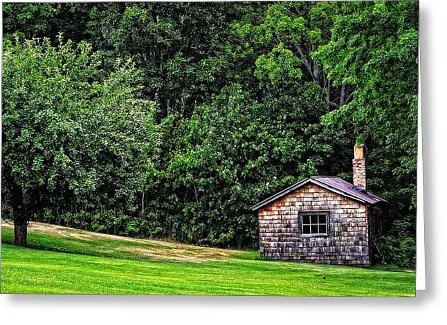 Old Cabins Greeting Cards - The Sauna by Sharon Cummings Greeting Card by Sharon Cummings