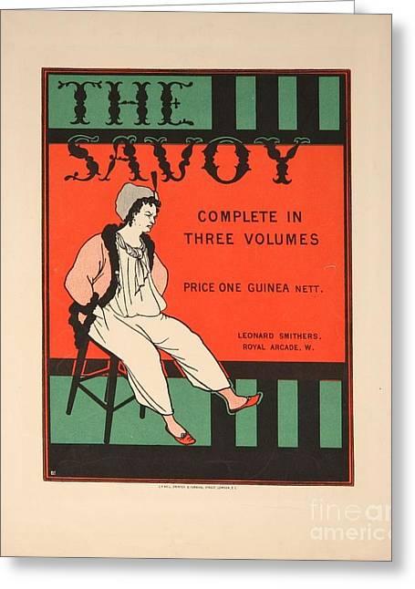 Aubrey Greeting Cards - The Savoy Greeting Card by Aubrey Beardsley