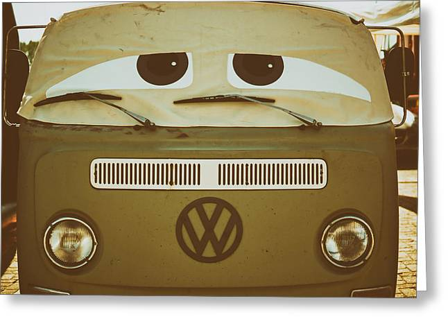 Droopy Greeting Cards - The Say Eyed Volkswagen  Greeting Card by Skitterphoto