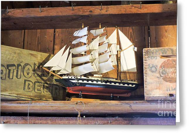 Toy Boat Greeting Cards - The Schooner Greeting Card by Marilee Noland