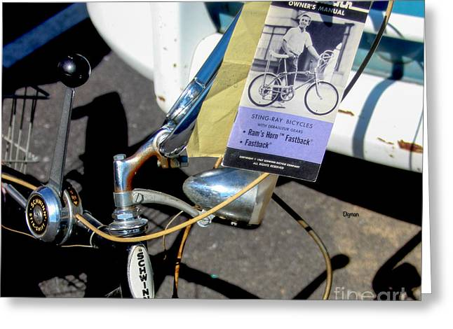 Owner Digital Greeting Cards - The Schwinn Sting-Ray Greeting Card by Steven  Digman