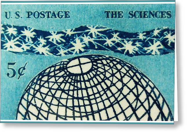 Enterprise Paintings Greeting Cards - The Sciences stamp Greeting Card by Lanjee Chee