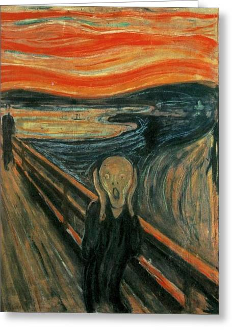 The Scream  Greeting Card by Edward Munch