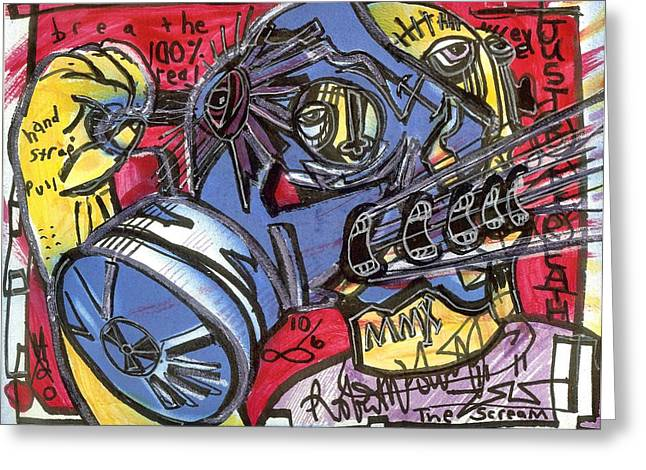 Graffiti Greeting Cards - The Scream Greeting Card by Robert Wolverton Jr