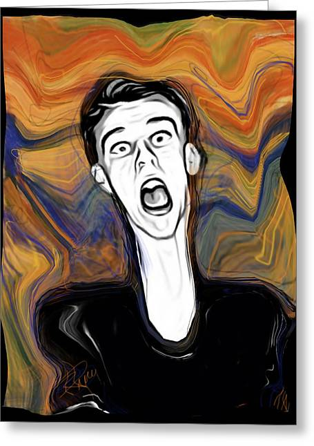 Smear Greeting Cards - The Scream Greeting Card by Russell Pierce