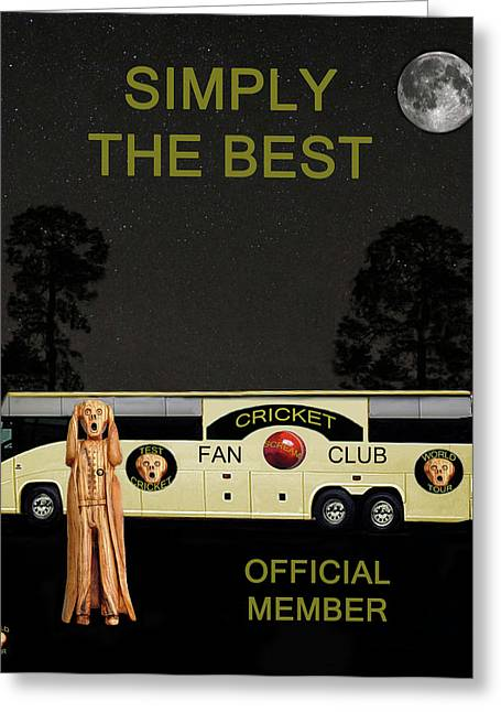 Tour Bus Mixed Media Greeting Cards - The Scream World Tour Cricket  tour bus Simply The Best Greeting Card by Eric Kempson