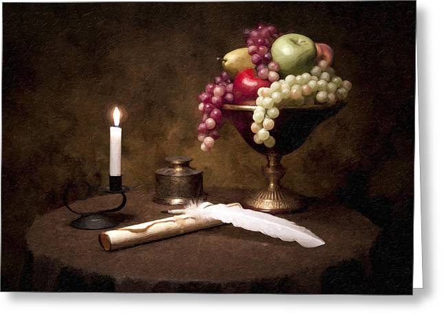 Painted Image Greeting Cards - The Scribe Greeting Card by Tom Mc Nemar