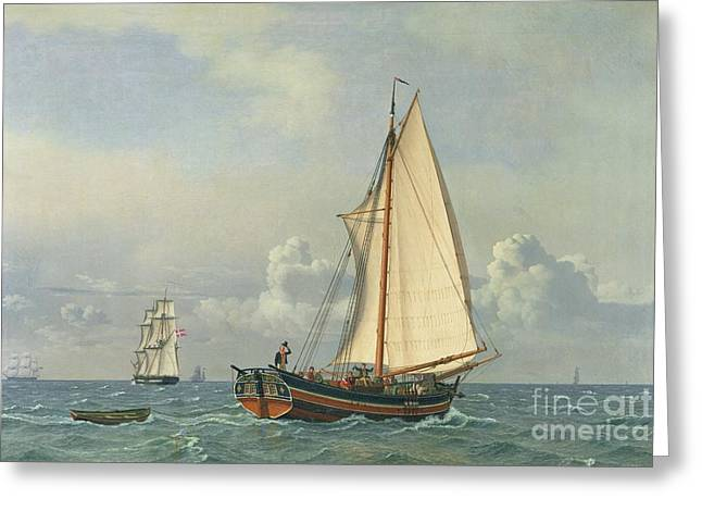 High Seas Greeting Cards - The Sea Greeting Card by Christoffer Wilhelm Eckersberg