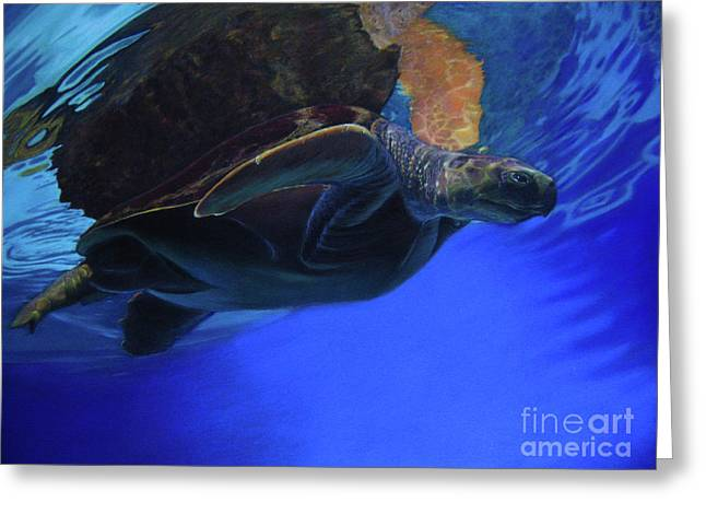 Sea Life Pastels Greeting Cards - The Sea Hunt Greeting Card by Mona Mandall