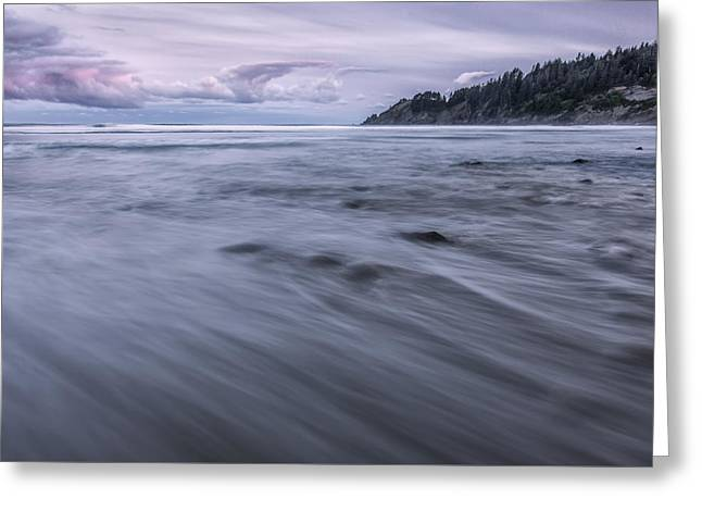 The Sea Rushes In Greeting Card by Jon Glaser