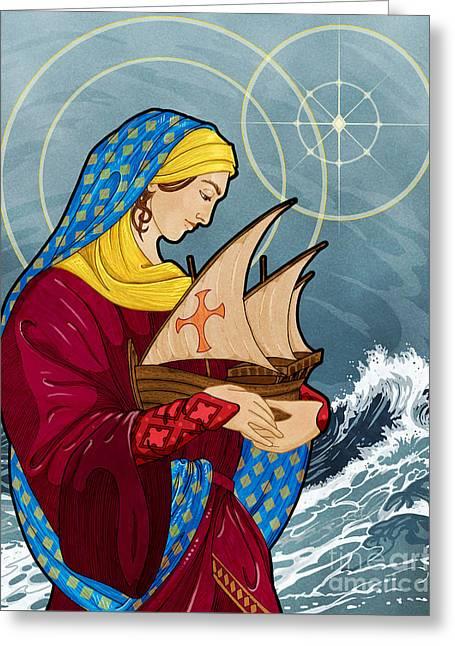 The Sea Star Greeting Card by Lawrence Klimecki