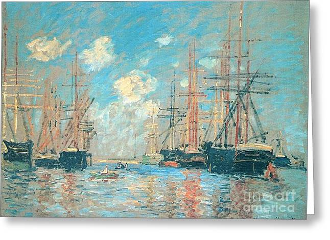 The Seaport Amsterdam Greeting Card by Monet