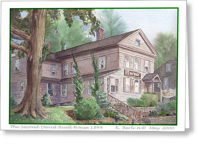 East Hampton Paintings Greeting Cards - The Second David Buell House Greeting Card by Katherine  Berlin