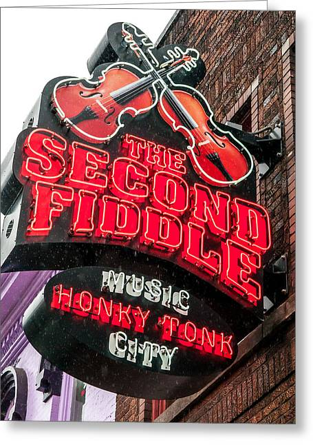 Nashville Tennessee Greeting Cards - The Second Fiddle Greeting Card by William Krumpelman