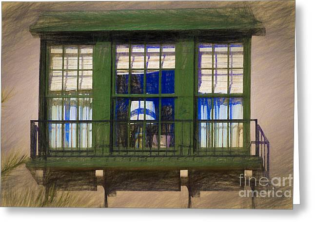 Still Life By Window Greeting Cards - The Second floor Window Greeting Card by C W Hooper