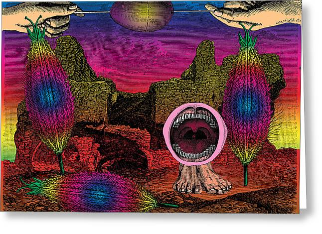 Mauve Decade Greeting Cards - The Seed-pod Song Greeting Card by Eric Edelman