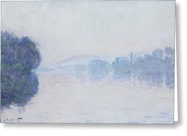 The Seine near Vernon Greeting Card by Claude Monet