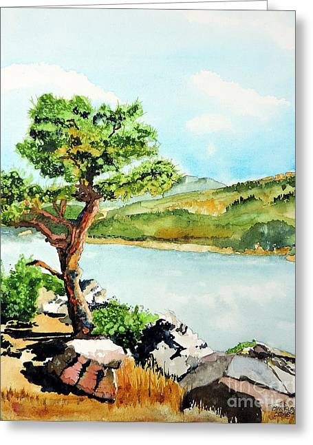 Horsetooth Reservoir Greeting Cards - The Sentinel Greeting Card by Tom Riggs