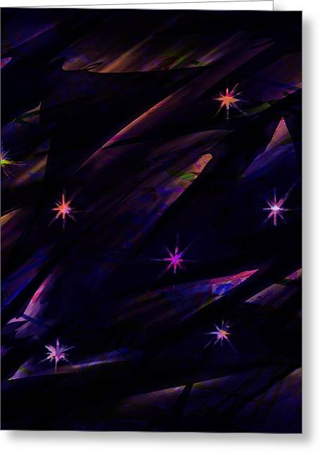 Alpha And Omega Greeting Cards - The Seven Stars Greeting Card by Rachel Christine Nowicki