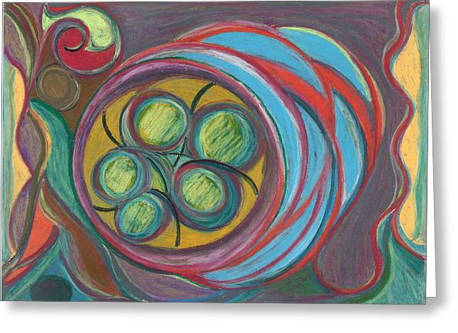 Spirituality Pastels Greeting Cards - The Seventh Portal Greeting Card by Claudia Cion