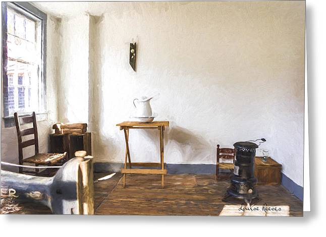 Windsor Chair Greeting Cards - The Parsonage Parlor Greeting Card by Louise Reeves