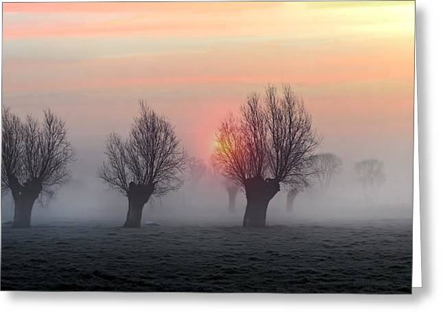 Fog Greeting Cards - The Shadow Of Time Greeting Card by Piet Flour