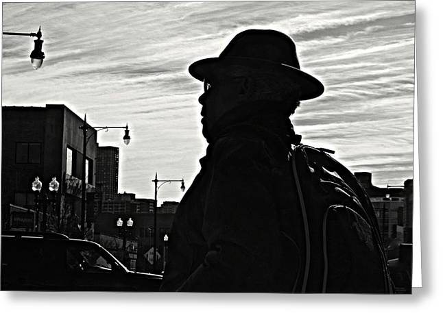 The Shadow Vigilante Crimefighter Greeting Card by Robert Frank Gabriel