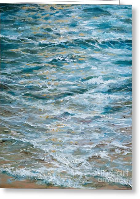 Abstract Expression Greeting Cards - The Shallows Greeting Card by Linda Olsen