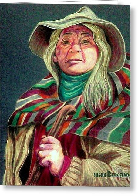 Teen Pastels Greeting Cards - The Shaman Greeting Card by Susan Bergstrom