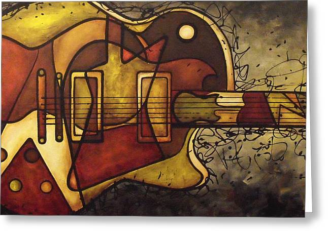 Electric Guitar Greeting Cards - The Shape That Defines Us Greeting Card by Darlene Keeffe