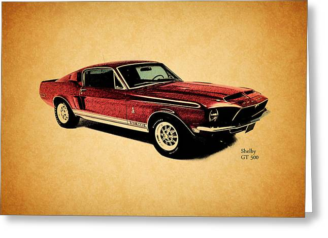 Cars Greeting Cards - The Shelby GT500 Greeting Card by Mark Rogan