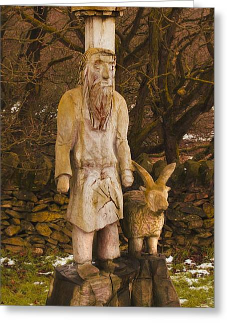 The Shepherd And Ram Greeting Card by Linsey Williams
