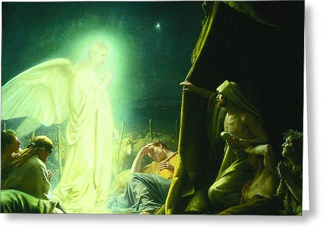 The Shepherds And The Angel Greeting Card by MotionAge Designs