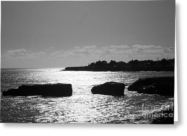 Santa Cruz Greeting Cards - The Shimmering Sea Greeting Card by Chris Berry