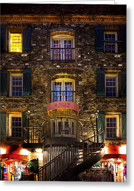Historic Home Greeting Cards - The Shoppes of River Street Greeting Card by Mark Andrew Thomas