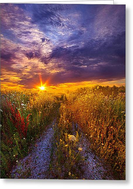 The Shortcut Greeting Card by Phil Koch