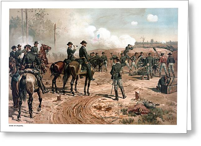 Military Generals Greeting Cards - The Siege of Atlanta Greeting Card by War Is Hell Store