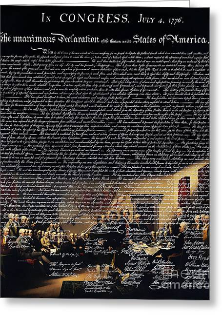 The Signing Of The United States Declaration Of Independence V2 Greeting Card by Home Decor