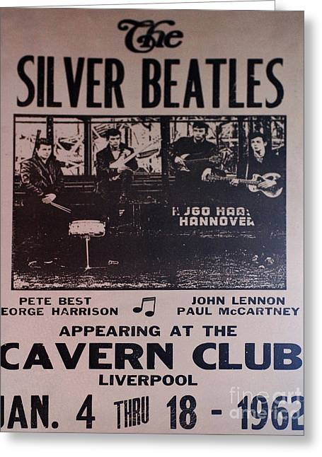 Cavern Club . Greeting Cards - The Silver Beatles Poster Collection 4 Greeting Card by Bob Christopher