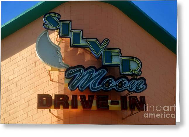 Silver Moon Drive In Greeting Cards - The Silver Moon Greeting Card by David Lee Thompson