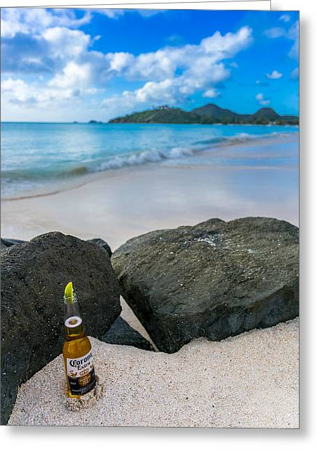 Cerveza Greeting Cards - The Simple life Greeting Card by William Huchton