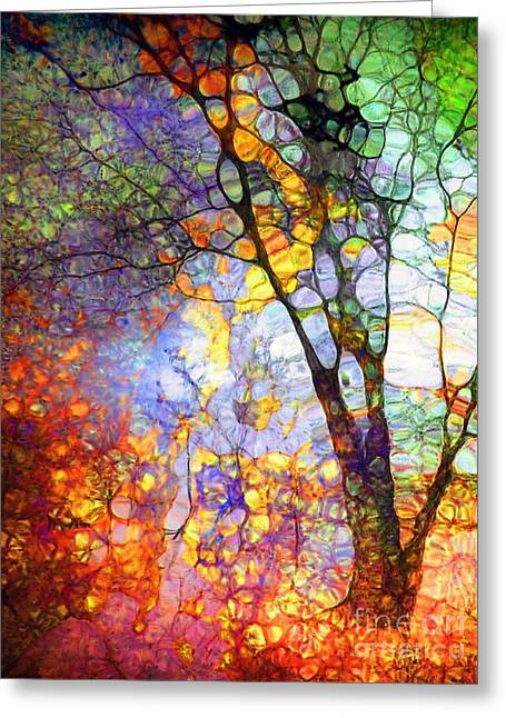 Daubs Greeting Cards - The Simple Tree Greeting Card by Tara Turner