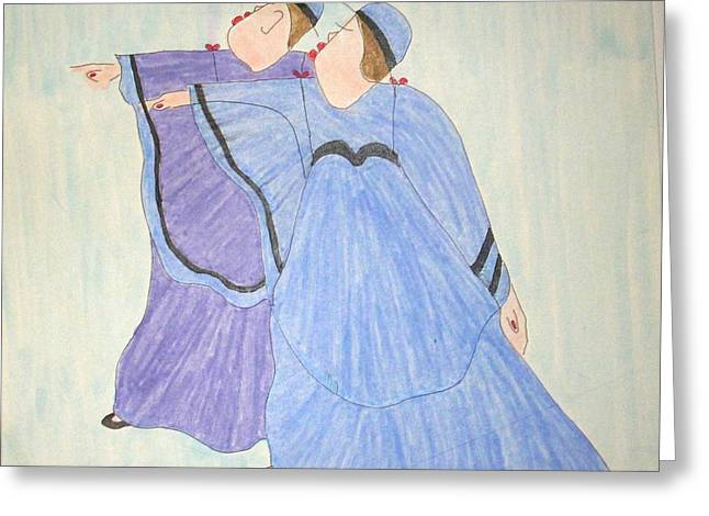 Robe Pastels Greeting Cards - The Singers  Greeting Card by Patsy  Stanley