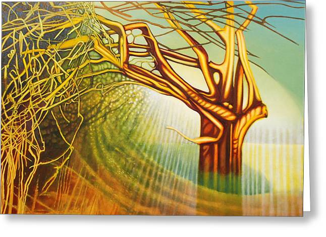 Human Spirit Greeting Cards - The singing tree Greeting Card by John Lincoln