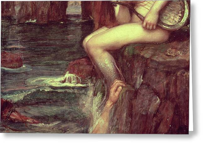 The Siren Greeting Card by John William Waterhouse
